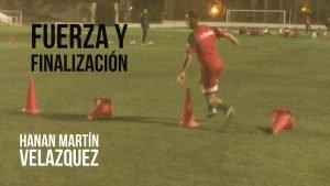 Ejercicio de fuerza y finalización para fútbol. Moisés Díaz Entrenador