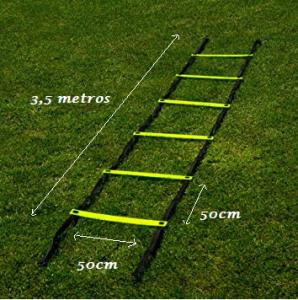 cuánto mide una escalera de coordinación
