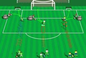 coordinación y tiro fútbol