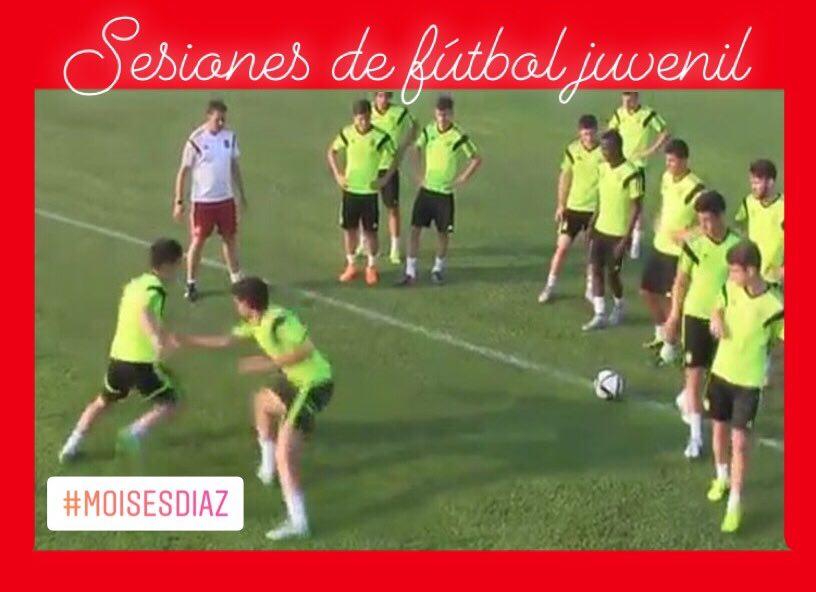 sesiones de fútbol para juveniles