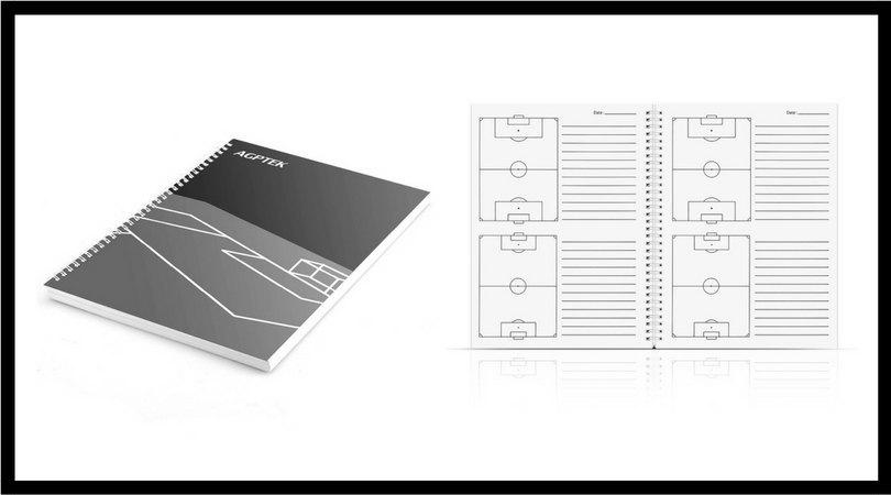 cuadernos tacticos entrenador de fútbol