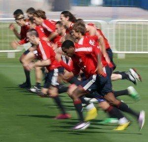 Cuáles son los tiempos de recuperación entre los ejercicios de fútbol