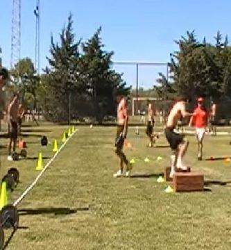 entrenamiento de la fuerza en fútbol circuitos