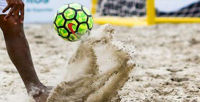 entrenamientos futbol playa